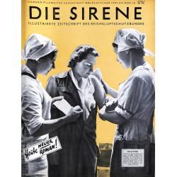 1635 DIE SIRENE No. 2-1940- Reichsluftschutzbund - RLB - Luftschutz magazine civil protection, firefighting, air raids