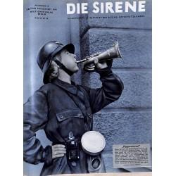 1636 DIE SIRENE No. 2-1940- Reichsluftschutzbund - RLB - Luftschutz magazine civil protection, firefighting, air raids