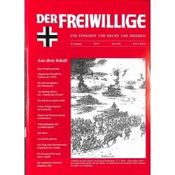 2007177 No. 4-1996 DER FREIWILLIGE - Waffen-SS veteran magazine -