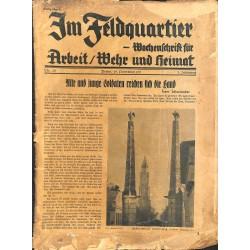 2707 IM FELDQUARTIER -No.2/3-1935- illustrated german military magazine, very rare, 32 pages