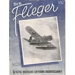 2745 DER FLIEGER-No.8-1942-WWII german aviation magazine  content:Messerschmitt Me 109 Heinkel Flugzeugwerke Dornier