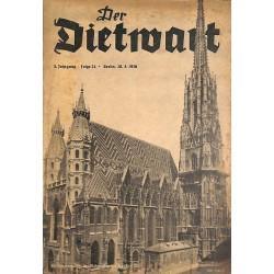 5747 DER DIETWART No.  24/ 3.yearMarch 20 1938 content:Heil, Deutsch-Österreich, Grußwort des Dietwarts