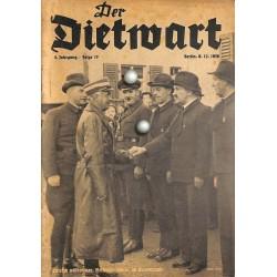 5759 DER DIETWART No.  17/ 4.yearDecember 8 1938 content:Zur Judenfrage, Juden und Leibesübungen, Handreichung
