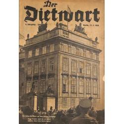 5762 DER DIETWART No.  24/ 4. yearMarch 23 1939 content:Böhmen und Mähren, Freies Memelland, Memeldeutsche Leibeserziehung