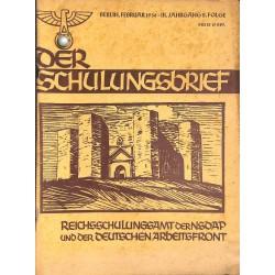 6404 DER SCHULUNGSBRIEF  No. 2-1936-3rd year, FebruaryVorkämpfer der Nationalwirtschaft, Horst Wessel