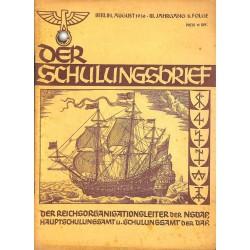 6410 DER SCHULUNGSBRIEF No. 8-1936-3rd year,AugustEin Kämpfer um deutsche Palmen, Etndecker um der Ehre willen