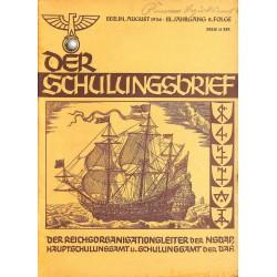 6411 DER SCHULUNGSBRIEF No. 8-1936-3rd year,AugustEin Kämpfer um deutsche Palmen, Etndecker um der Ehre willen