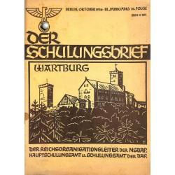 6414 DER SCHULUNGSBRIEF No. 10-1936-3rd year, OctoberWartburg, Clausewitz und unsere Zeit, Um die Ehre!