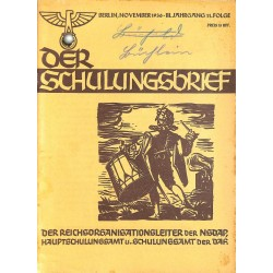 6416 DER SCHULUNGSBRIEF No. 11-1936-3rd year, NovemberEin Lehrer unserer Zeit, Totenehrung