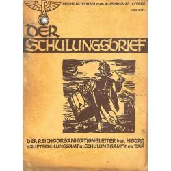 6417 DER SCHULUNGSBRIEF No. 11-1936-3rd year, NovemberEin Lehrer unserer Zeit, Totenehrung