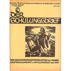 6419 DER SCHULUNGSBRIEF No. 11-1936-3rd year, NovemberEin Lehrer unserer Zeit, Totenehrung, Letzte Worte unserer Blutzeuge