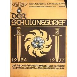 6420 DER SCHULUNGSBRIEF No. 12-1936-3rd year, DecemberRichard Wagners unsterbliches Vermächtnis, Friede auf erden, die Ewi