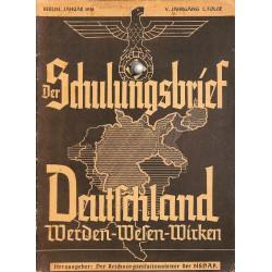 6438 DER SCHULUNGSBRIEF No. 1-1938-5th year, JanuaryDeutschland Werden-Wesen-Wirken