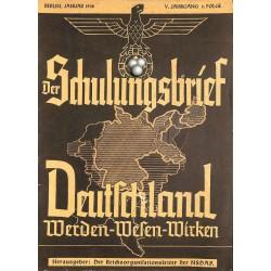 6441 DER SCHULUNGSBRIEF No. 1-1938-5th year, JanuaryDeutschland Werden-Wesen-Wirken